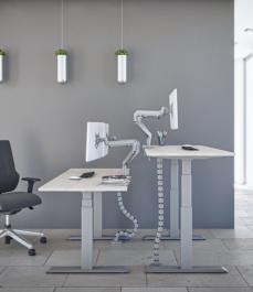 Stelaż elektryczny do biurka Futuro srebrny